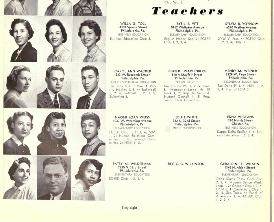 U.S.SchoolYearbooksForGeraldineLWilson