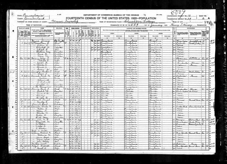 1920UnitedStatesFederalCensusForHarryFFlowers.jpg