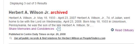 Herbert A Wilson