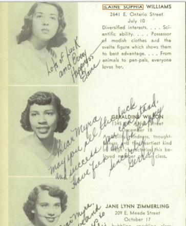 Geraldine Wilson. 1950. PA HS